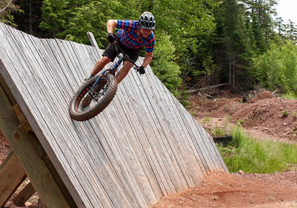Wall ride at the Victoria Park Trails